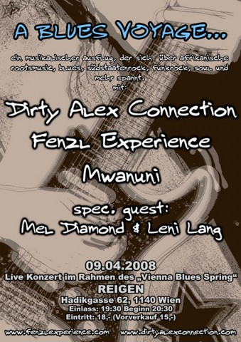 Mwanuni - Fenzl Experience - Dirty Alex Connection - A Blues Voyage