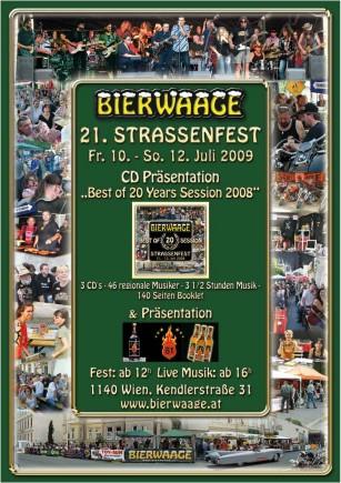 Bierwaage Straßenfest 2009 Plakat